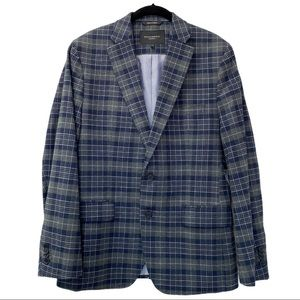 BANANA REPUBLIC Blue Plaid Men's Sports Jacket